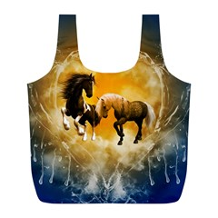 Wonderful Horses Full Print Recycle Bags (L)