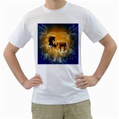 Wonderful Horses Men s T-Shirt (White)