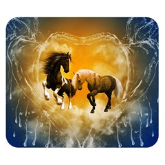 Wonderful Horses Double Sided Flano Blanket (small)