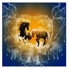 Wonderful Horses Large Satin Scarf (square)