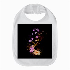 Awesome Flowers With Fire And Flame Bib