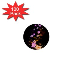 Awesome Flowers With Fire And Flame 1  Mini Buttons (100 pack)