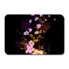 Awesome Flowers With Fire And Flame Plate Mats