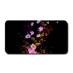 Awesome Flowers With Fire And Flame Medium Bar Mats