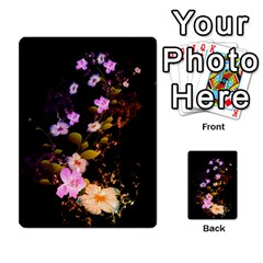 Awesome Flowers With Fire And Flame Multi Purpose Cards (rectangle)