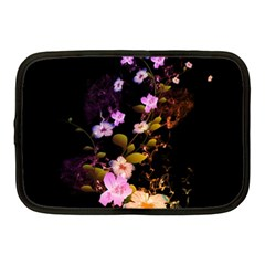 Awesome Flowers With Fire And Flame Netbook Case (Medium)