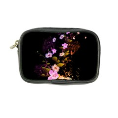 Awesome Flowers With Fire And Flame Coin Purse