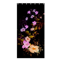 Awesome Flowers With Fire And Flame Shower Curtain 36  X 72  (stall)