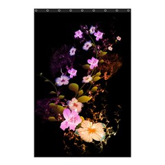 Awesome Flowers With Fire And Flame Shower Curtain 48  x 72  (Small)