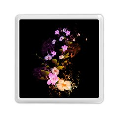 Awesome Flowers With Fire And Flame Memory Card Reader (Square)
