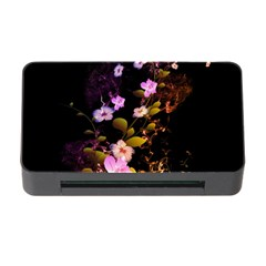 Awesome Flowers With Fire And Flame Memory Card Reader with CF