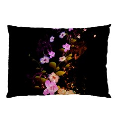 Awesome Flowers With Fire And Flame Pillow Cases (two Sides)