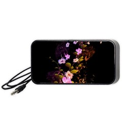 Awesome Flowers With Fire And Flame Portable Speaker (black)