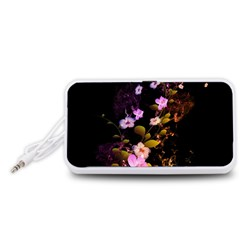 Awesome Flowers With Fire And Flame Portable Speaker (White)