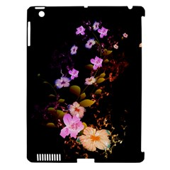 Awesome Flowers With Fire And Flame Apple iPad 3/4 Hardshell Case (Compatible with Smart Cover)