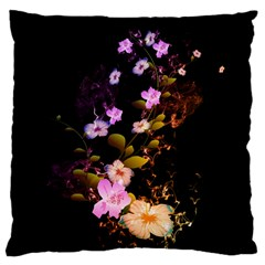 Awesome Flowers With Fire And Flame Large Cushion Cases (One Side)