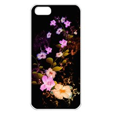 Awesome Flowers With Fire And Flame Apple iPhone 5 Seamless Case (White)