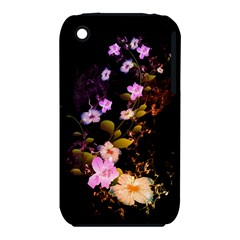 Awesome Flowers With Fire And Flame Apple iPhone 3G/3GS Hardshell Case (PC+Silicone)