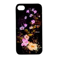 Awesome Flowers With Fire And Flame Apple iPhone 4/4S Hardshell Case with Stand