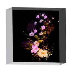 Awesome Flowers With Fire And Flame 5  x 5  Acrylic Photo Blocks