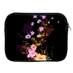 Awesome Flowers With Fire And Flame Apple iPad 2/3/4 Zipper Cases