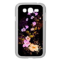 Awesome Flowers With Fire And Flame Samsung Galaxy Grand Duos I9082 Case (white)