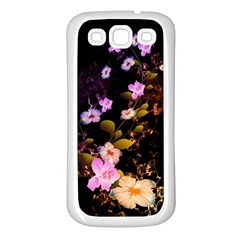 Awesome Flowers With Fire And Flame Samsung Galaxy S3 Back Case (White)