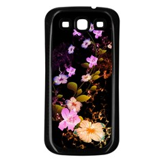 Awesome Flowers With Fire And Flame Samsung Galaxy S3 Back Case (Black)