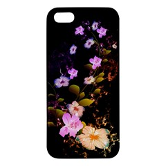 Awesome Flowers With Fire And Flame iPhone 5S Premium Hardshell Case