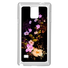 Awesome Flowers With Fire And Flame Samsung Galaxy Note 4 Case (White)