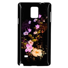 Awesome Flowers With Fire And Flame Samsung Galaxy Note 4 Case (Black)