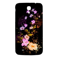 Awesome Flowers With Fire And Flame Samsung Galaxy Mega I9200 Hardshell Back Case