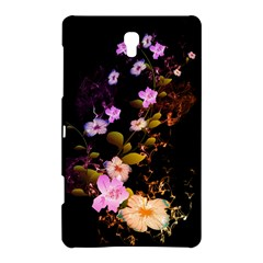 Awesome Flowers With Fire And Flame Samsung Galaxy Tab S (8 4 ) Hardshell Case