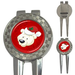 Funny Polar Bear 3-in-1 Golf Divots