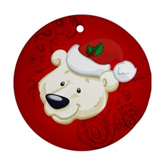 Funny Polar Bear Round Ornament (Two Sides)