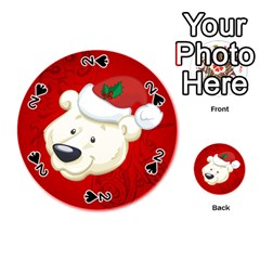 Funny Polar Bear Playing Cards 54 (round)