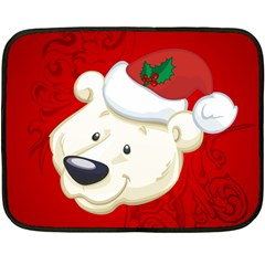 Funny Polar Bear Fleece Blanket (mini)