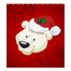 Funny Polar Bear Shower Curtain 66  x 72  (Large)