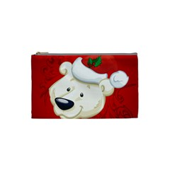 Funny Polar Bear Cosmetic Bag (Small)