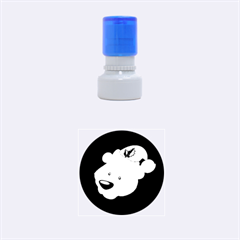 Funny Polar Bear Rubber Round Stamps (Small)