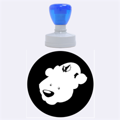 Funny Polar Bear Rubber Round Stamps (large)