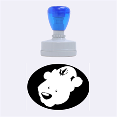 Funny Polar Bear Rubber Oval Stamps