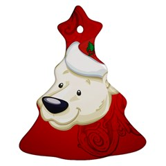Funny Polar Bear Christmas Tree Ornament (2 Sides)