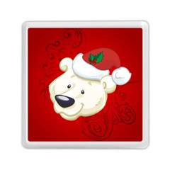 Funny Polar Bear Memory Card Reader (Square)