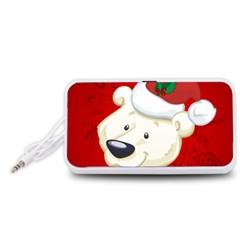 Funny Polar Bear Portable Speaker (White)