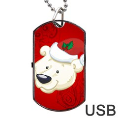 Funny Polar Bear Dog Tag Usb Flash (two Sides)