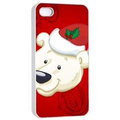 Funny Polar Bear Apple Iphone 4/4s Seamless Case (white)