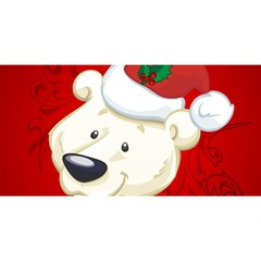 Funny Polar Bear YOU ARE INVITED 3D Greeting Card (8x4)