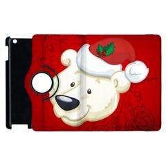 Funny Polar Bear Apple iPad 2 Flip 360 Case