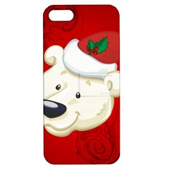 Funny Polar Bear Apple iPhone 5 Hardshell Case with Stand